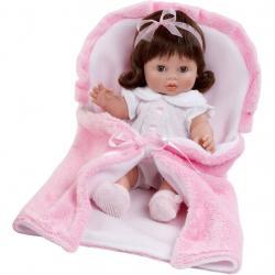 Luxusní dětská panenka-miminko Berbesa Magdalena 35cm Růžová