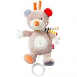 Dětská plyšová hrající hračka Nuk méďa Béžová