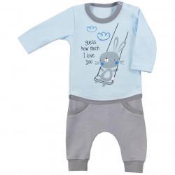 2-dílná kojenecká souprava Koala Swing modrá Modrá velikost - 74 (6-9m)