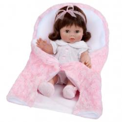 Luxusní dětská panenka-miminko Berbesa Lusy 35cm Růžová