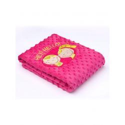 Dětská oboustranná deka Sensillo Hey Hello 75x100 cm rose Růžová