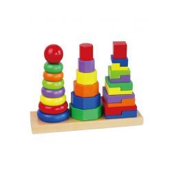 Dřevěné barevné pyramidy pro děti Viga Multicolor