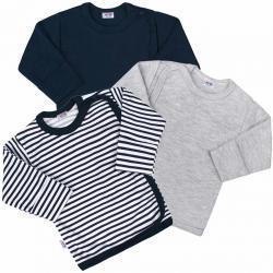 Kojenecká košilka New Baby Classic II Kluk 3ks Dle obrázku velikost - 56 (0-3m)