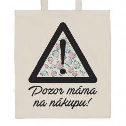 Bavlněná nákupní taška přírodní s potiskem New Baby Přírodní