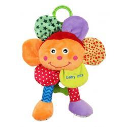 Plyšová hračka se zvukem Baby Mix Květinka Oranžová