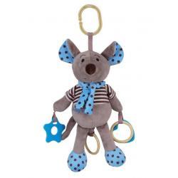 Plyšová hračka se zvukem Baby Mix Myška modrá Modrá