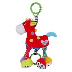 Dětská plyšová hračka s vibrací Baby Mix Koník Červená