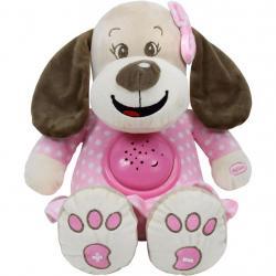 Plyšový pejsek s projektorem Baby Mix růžový Růžová