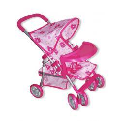 Sportovní kočárek pro panenky Baby Mix medvídek Růžová