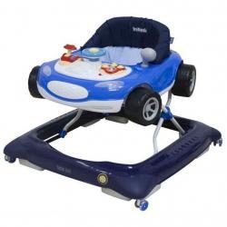 Dětské chodítko Baby Mix autíčko modré Modrá