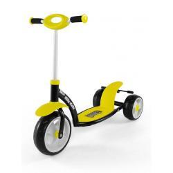 Dětská koloběžka Milly Mally Crazy Scooter  yellow Žlutá