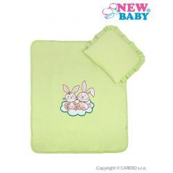 Set do kočárku New Baby Bunnies zelený Zelená