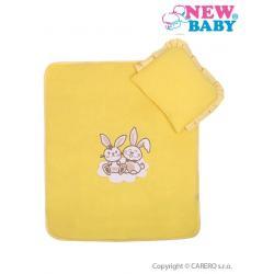 Set do kočárku New Baby Bunnies žlutý Žlutá