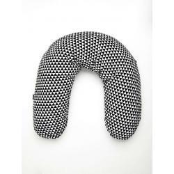 Univerzální kojící polštář Womar bílo-černý Bílá