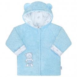 Zimní kabátek New Baby Nice Bear modrý Modrá velikost - 56 (0-3m)