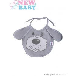 Dětský bryndák New Baby šedý Šedá velikost - Délka do 22 cm