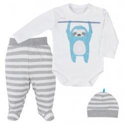 3-dílná dětská souprava Koala Sloth Šedá velikost - 80 (9-12m)