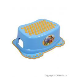 Dětské protiskluzové stupátko do koupelny modré tlapky Modrá