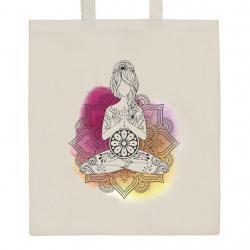Bavlněná nákupní taška přírodní s potiskem New Baby Mandala Přírodní