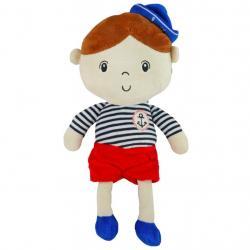 Edukační plyšová panenka Baby Mix námořník chlapec Dle obrázku