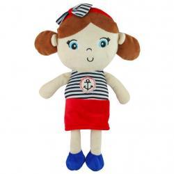 Edukační plyšová panenka Baby Mix námořník holka Dle obrázku
