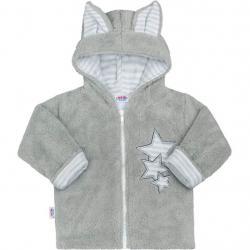 Zimní dětská mikina New Baby Ušáček šedá Šedá velikost - 62 (3-6m)