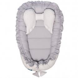 Luxusní hnízdečko pro miminko Belisima Králíček bílo-šedé Šedá