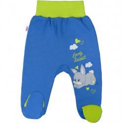 Dětské polodupačky New Baby Lovely Rabbit Modrá velikost - 56 (0-3m)