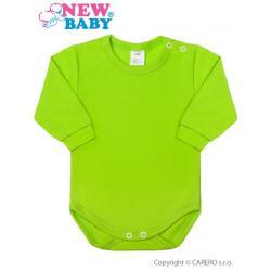 Kojenecké body s dlouhým rukávem New Baby světle zelené Zelená velikost - 50