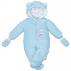 Zimní kombinézka New Baby Nice Bear modrá Modrá velikost - 74 (6-9m)