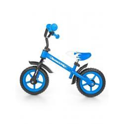 Dětské odrážedlo kolo Milly Mally Dragon s brzdou blue Modrá