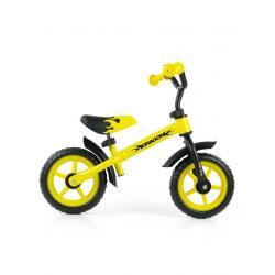 Dětské odrážedlo kolo Milly Mally Dragon yellow Žlutá