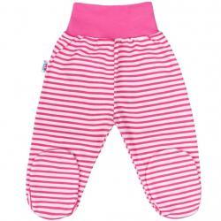 Kojenecké polodupačky New Baby Classic II s růžovými pruhy Růžová velikost - 62 (3-6m)