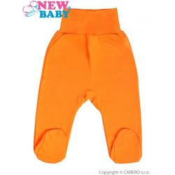 Kojenecké polodupačky New Baby oranžové Oranžová velikost - 86 (12-18m)
