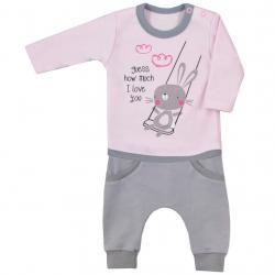 2-dílná kojenecká souprava Koala Swing růžová Růžová velikost - 68 (4-6m)