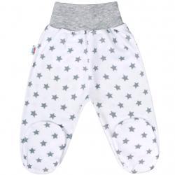 Kojenecké polodupačky New Baby Classic II šedé s hvězdičkami Šedá velikost - 56 (0-3m)