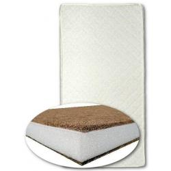 Matrace do kolébky kokos-molitan-kokos 80x40 cm - bílá Bílá