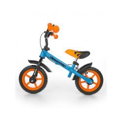 Dětské odrážedlo kolo Milly Mally Dragon s brzdou orange-blue Oranžová
