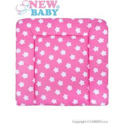 Bavlněná přebalovací podložka 70x65 New Baby hvězdičky růžová Růžová