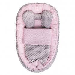 Hnízdečko s peřinkou pro miminko Minky Sweet Baby Belisima růžové Růžová