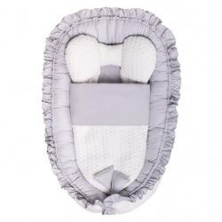 Luxusní hnízdečko s peřinkou pro miminko Belisima Králíček šedé Šedá
