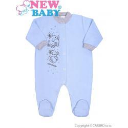 Kojenecký overal New Baby Kamarádi modrý Modrá velikost - 74 (6-9m)