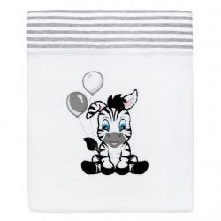 Luxusní dětská zimní deka New Baby Zebra 110x90 cm Bílá
