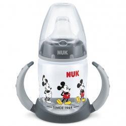 Kojenecká láhev na učení NUK Disney Mickey 150 ml šedá Šedá