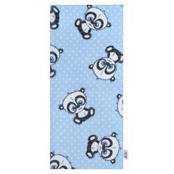 Bavlněná plena s potiskem  New Baby modrá panda s bílou tečkou Modrá